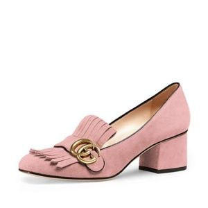 Gucci Marmont Suede Loafer pink